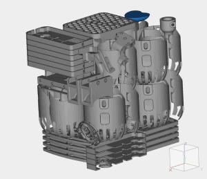 Projekt metalowej części stworzonej na potrzeby obliczenia cenniku druku 3D